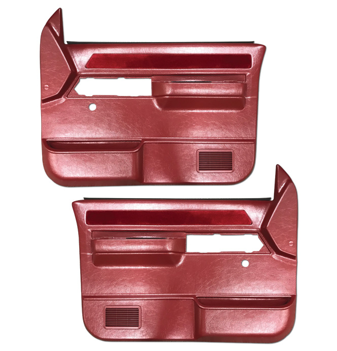 (1988-94) * Door Panels -w/o Silverado/SLE-w/o Power-Dark Red