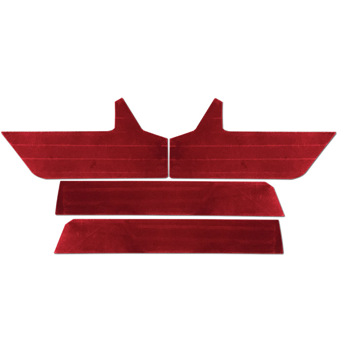 (1988-94) Door Panel Velour Trim Kit -w/Silverado/SLE-Dark Red
