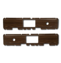 (1977-80)  Door Trim Inserts - Walnut Woodgrain