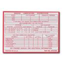 (1955-59)  Glove Box Door Lube Chart Decal