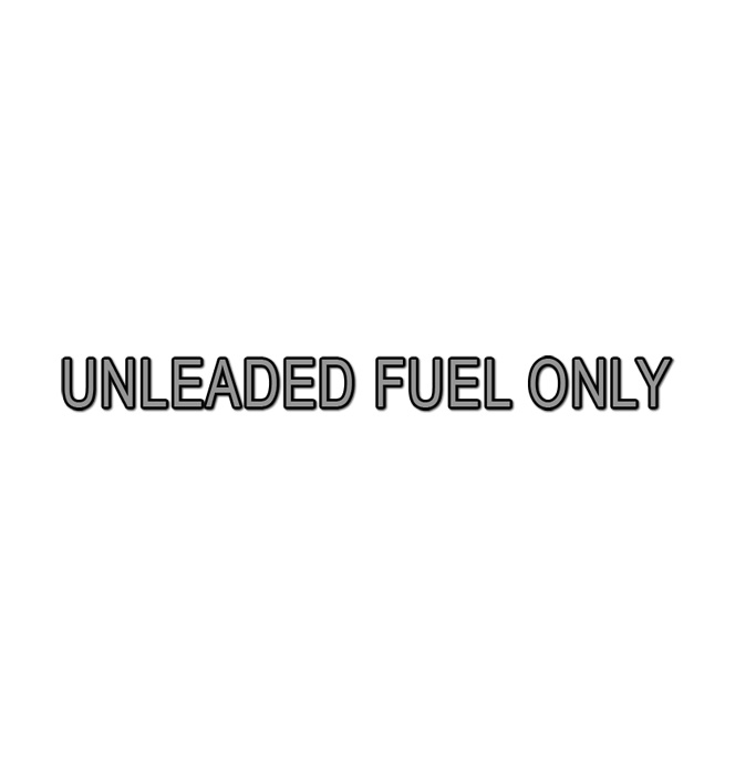 (1975-91)  Unleaded Fuel Only Decal