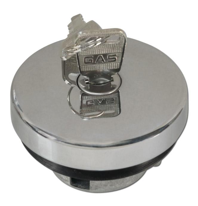 (1938-70)  Locking Gas Cap - Original - Type-A Chrome