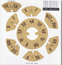 (1947-51)  Gauge Decal Kit-GMC-80mph