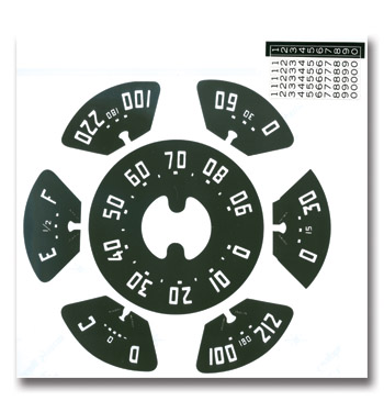 (1952-53)  Gauge Decal Kit-90mph
