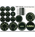 (1954-59)  Gauge Decal Kit - GMC