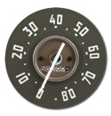 (1949-51)  Speedometer  - 80 mph - New