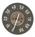 (1952-53)  Speedometer  - 90 mph - New