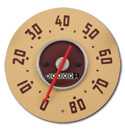 (1949-51)  Speedometer  - 80 mph - GMC- New