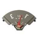 (1947-48) Fuel Gauge - w/ Red Needle - 6 Volt