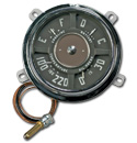(1949-53)  Gauge Assembly - New - 6 volt - 30lb - 6cyl - 220 temp