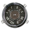 (1949-53)  Gauge Assembly - New - 12volt - 60lb - 8cyl - 220 temp