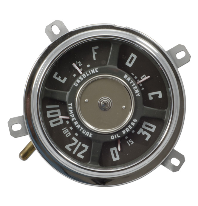 (1949-53)  Gauge Assembly - New - 12 volt - 30lb - 6cyl - 212 temp