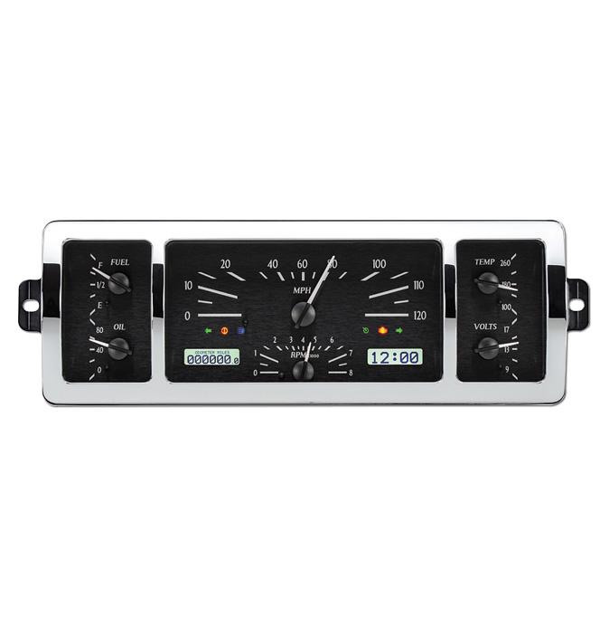 (1940-46) VHX Speedo & Gauge Kit - Black Alloy/White Display