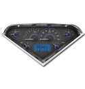 (1955-59) VHX Speedo & Gauge Kit - Carbon Fiber w/Blue Display