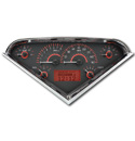 (1955-59) VHX Speedo & Gauge Kit - Carbon Fiber w/Red Display