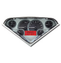 (1955-59) VHX Speedo & Gauge Kit - Silver Alloy w/Red Display