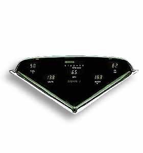 (1955-59)  Digital Dash - Green 8000 RPM Tach