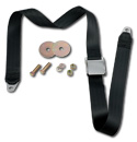 (1947-87)  Seat Belt - Aviation Buckle - Black