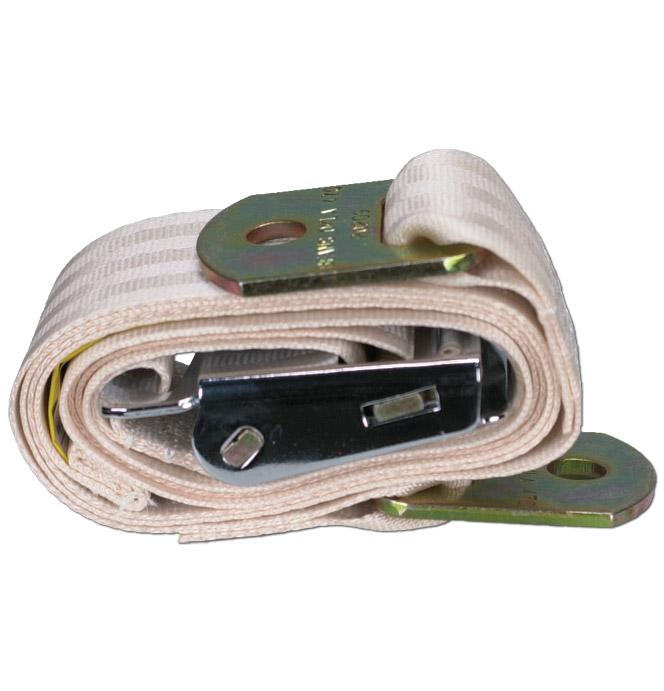 (1934-87)  Seat Belt - Aviation Buckle - Ivory