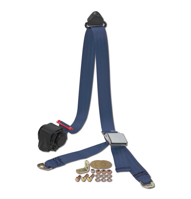 (47-59 and 67-87)  Shoulder / Lap Belt - Dark Blue