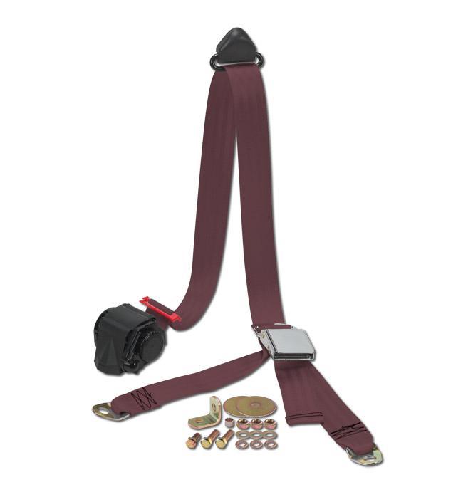 (47-59 and 67-87)  Shoulder / Lap Belt - Maroon