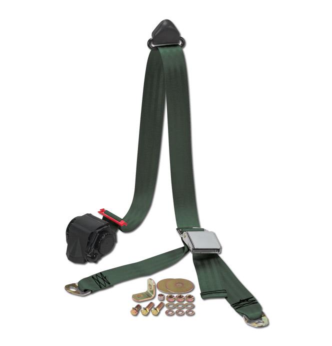 (47-59 and 67-87)  Shoulder / Lap Belt - Green
