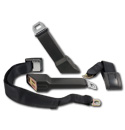 (1967-72) Original Style GM Seat Belts - Black - Reproduction