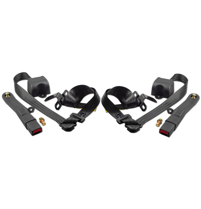 (88-98)  Shoulder / Lap Belt - Front Bucket Seat Gray