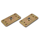 (47-59 and 67-87)  Shoulder / Lap Belt Threaded Anchor Plate pr.