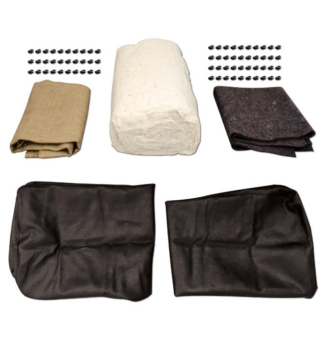 (1939-46)  Seat Cover Upholstery Kit-Black