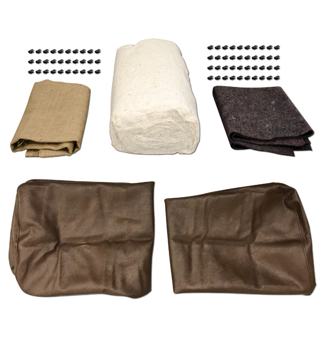 (1939-46)  Seat Cover Upholstery Kit-Brown