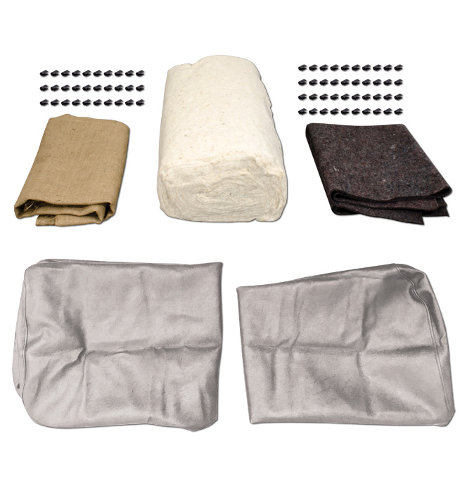 (1939-46)  Seat Cover Upholstery Kit-Gray