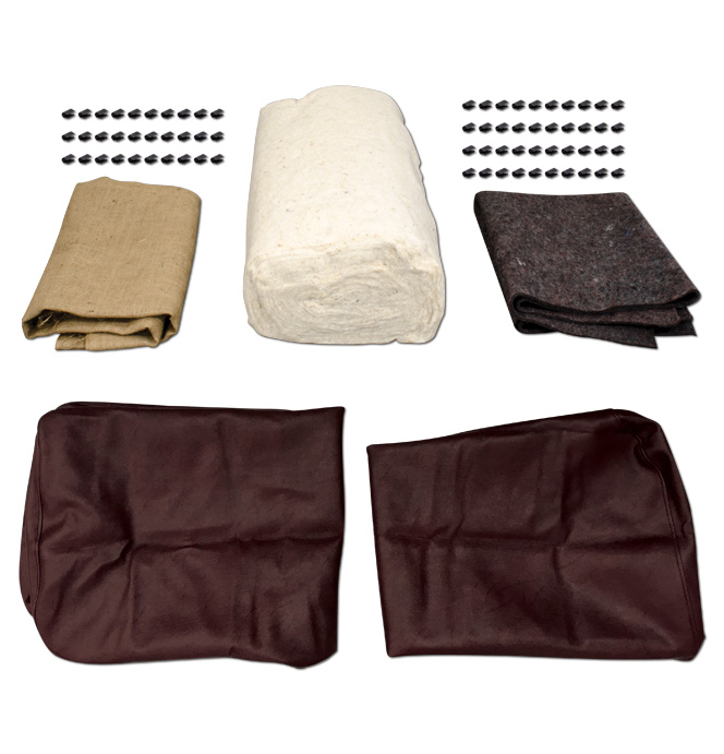 (1939-46)  Seat Cover Upholstery Kit-Maroon