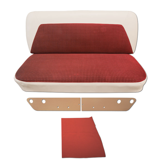 (1955-59)  Cameo Seat Kit-Red & Ivory