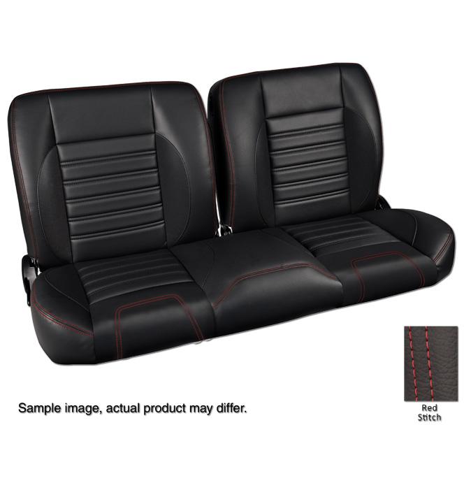 Awe Inspiring 1947 59 Pro Split Back Bench Seat Sport Black Classic Machost Co Dining Chair Design Ideas Machostcouk