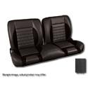 (1960-87) * Pro-Split Back Bench Seat - Sport-R - Black/Suede