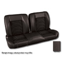 (1947-59) * Pro-Split Back Bench Seat - Sport-S - Black/Suede