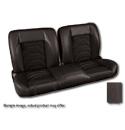 (1960-87) * Pro-Split Back Bench Seat - Sport-S - Black/Suede