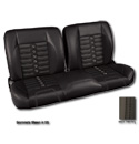 (1960-87) * Pro-Split Back Bench Seat - Sport-X - Black/Suede