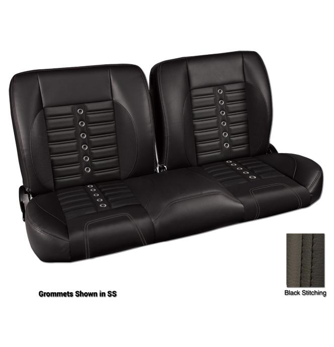(1947-59) * Pro-Split Back Bench Seat - Sport-X - Black/Suede