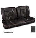 (1947-59) * Pro-Split Back Bench Seat - Sport-X - Black/Suede