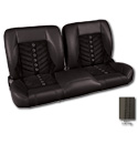 (1960-87) * Pro-Split Back Bench Seat - Sport-VXR - Black/Suede