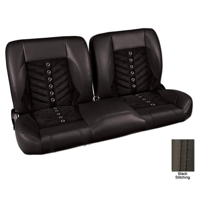 Astonishing 1947 59 Pro Split Back Bench Seat Sport Vxr Black Machost Co Dining Chair Design Ideas Machostcouk