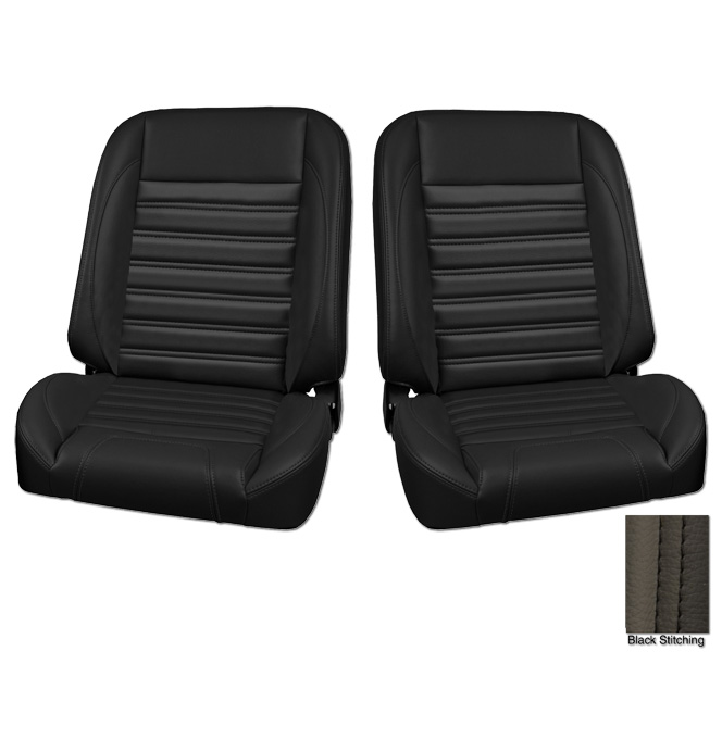 (1947-87) * Pro-Classic Low Back Bucket Seat - Sport - Black