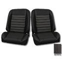 (1947-87) * Pro-Classic Low Back Bucket Seat - Sport-R - Black - pr