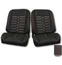 (1947-87) * Pro-Classic Low Back Bucket Seat - Sport-X - Black -pr
