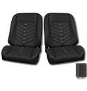 (1947-87) * Pro-Classic Low Back Bucket Seat - Sport-VXR - Black -pr