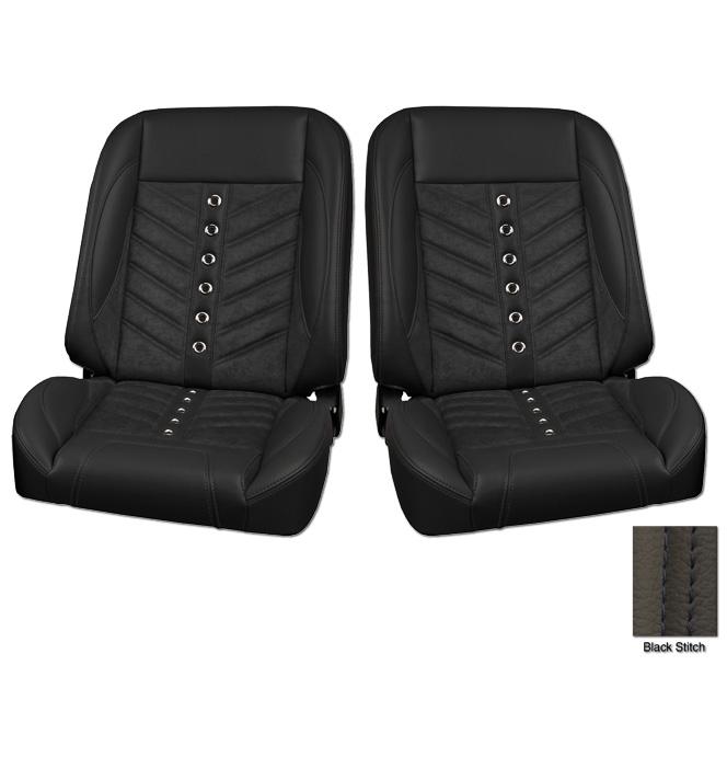 (1947-87) * Pro-Classic Low Back Bucket Seat - Sport-VXR - Black -pr