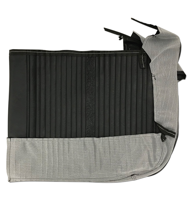 (1969-70)  Seat Kit-Bench w/Scroll, Black