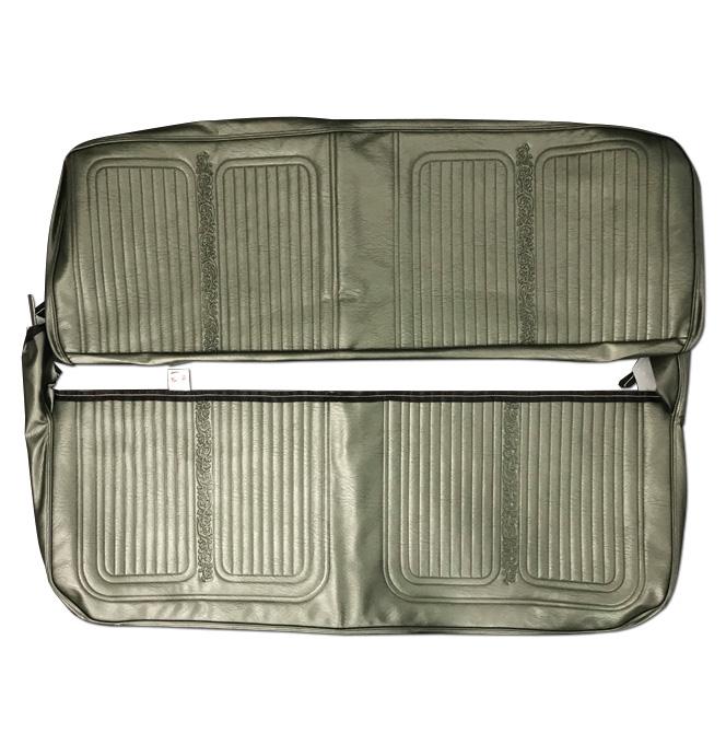 (1969-70)  Seat Kit-Bench w/Scroll, Green